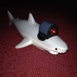 Shark with Frick'n laser pointer.