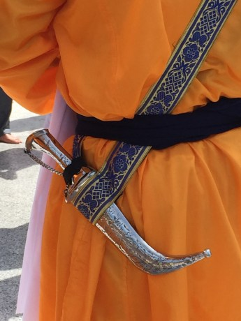 The Kirpan, a ceremonial dagger that represents a willingness to defend the defenseless