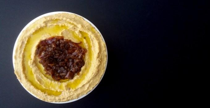 Hummus de Cebolla Caramelizada.
