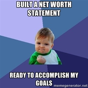 Net Worth and Goals Meme
