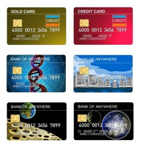 Six credit cards