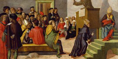 Italian_-_A_Franciscan_Monk_Preaching_-_Walters_37507