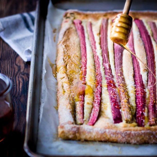 rustic rhubarb almond tart {gluten-free} - square-3