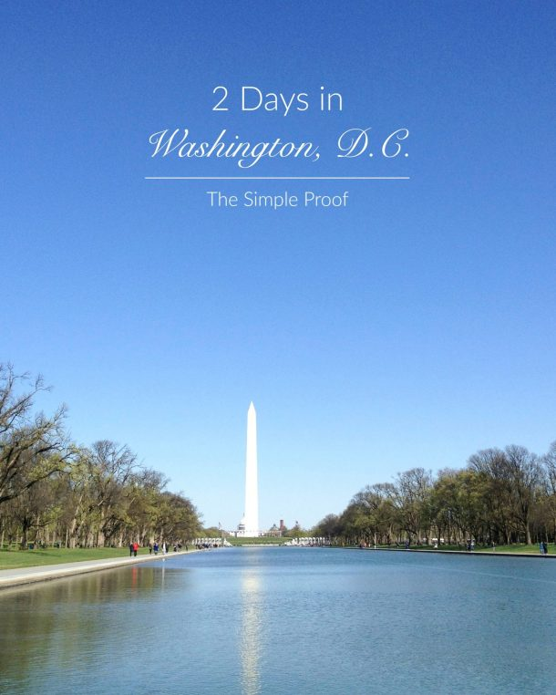 2 Days in D.C. with The Simple Proof