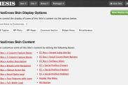 Criss Cross Content Options