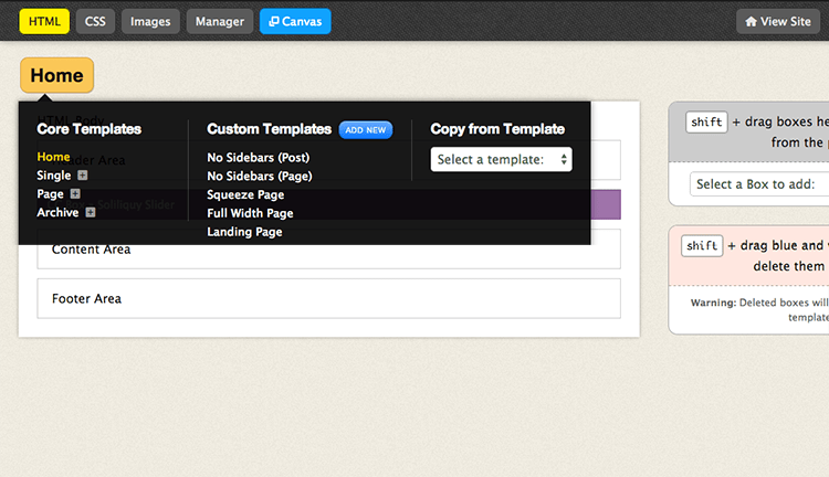 Add custom thesis footer