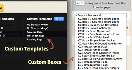 Custom Templates Boxes