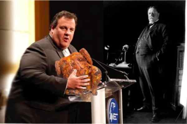 Chris Christie Vows to Keep Eating Until He's 'Bigger Than Taft'