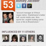 Klout Screen 1