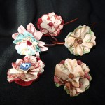 Flores de tela románticas
