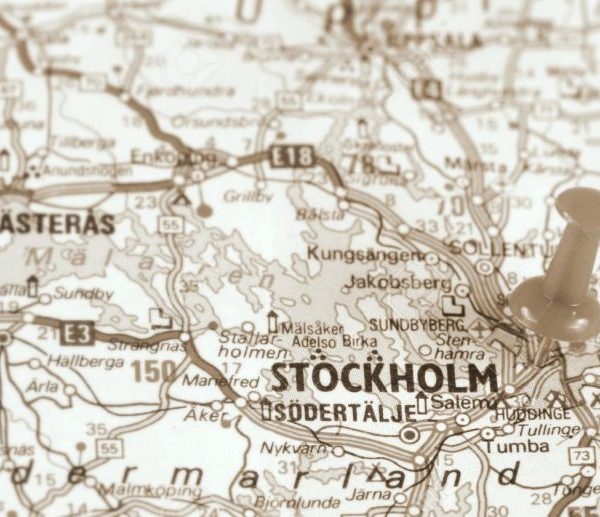 vintage shopping in Stockholm map