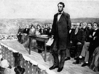 Although Lincoln's speech became one of the best known in American history, he was not the main speaker at the  Gettysburg National Cemetery dedication in 1863. Edmund Everett was the main speaker and spoke for two hours, while Lincoln's speech was brief and only 273 words. (Photo courtesy of goconqr.com)