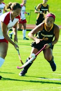 Spatichia handles the ball.  Christine Illes/Snapper