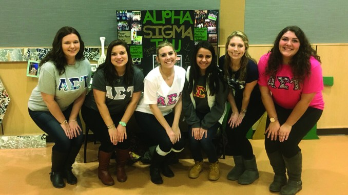 Alpha Sigma Tau is one of the four sororities on campus. Photo courtesy of Ashley Rossi.