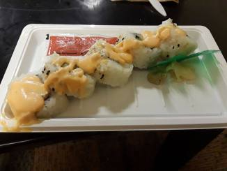 Sushi is a great option for students using meal plan.