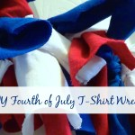 DIY T-Shirt Fourth of July Wreath