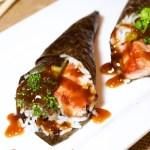 Teriyaki Salmon Hand Rolls