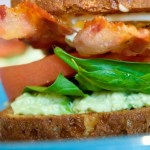 Avocado Crab Salad BLT Sandwich