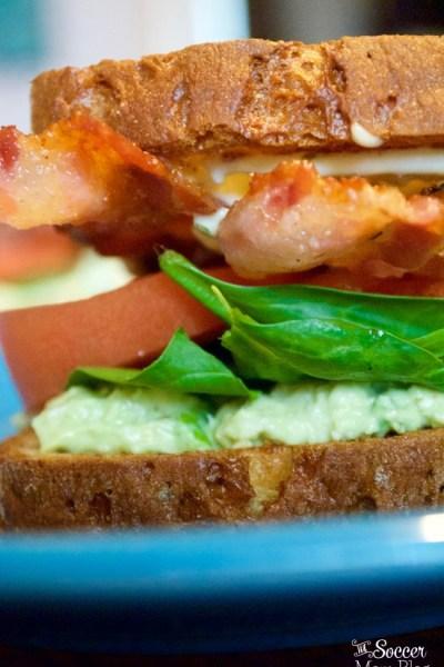Avocado Crab Salad BLT Sandwich
