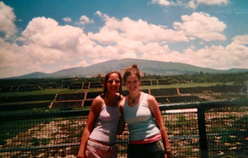 "We climbed pyramids. No big deal...And apparently, pig tails was very ""in"" at the time."