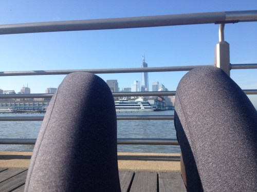 My view while I was doing situps on the Hudson River