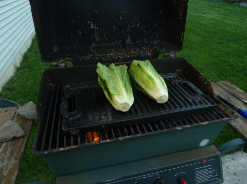 Lettuce on a grill. So crazy.