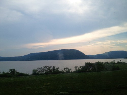 The Hudson Valley to NYC train ride view