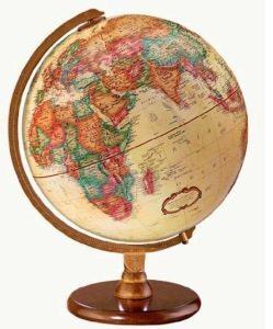 Replogle Globes come in a beautiful Antique English