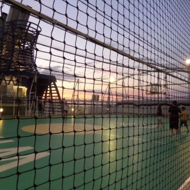 The outdoor sports deck on Norwegian Epic cruise ship.