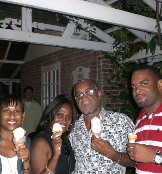 Visit Jamaica: Land I Love. Enjoying ice cream with my family  at Devon House in Kingston Jamaica.
