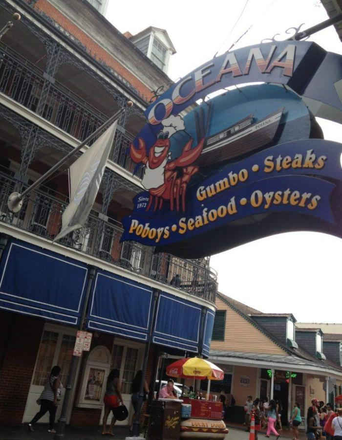 Eating in New Orleans at Oceana Grill.