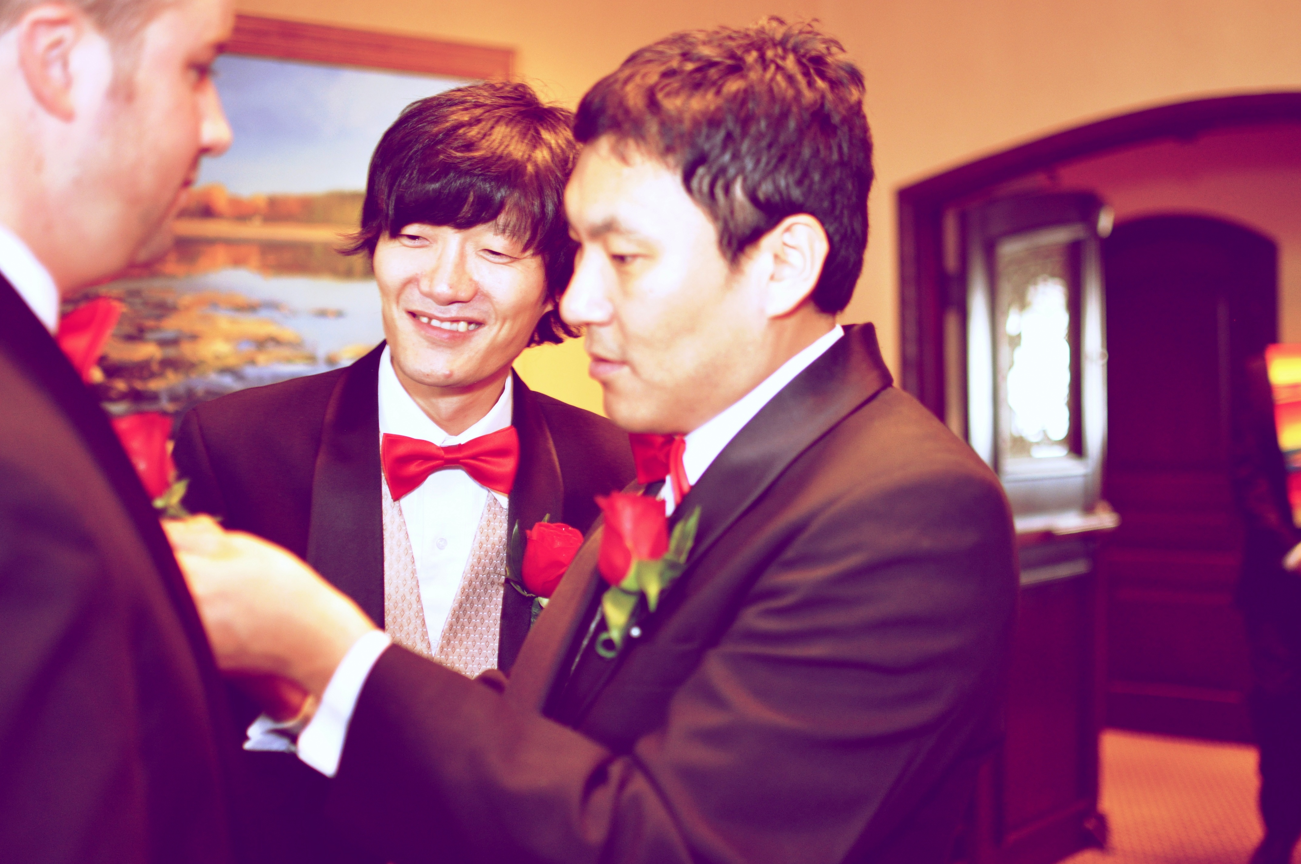 A Korean in an American Wedding Ceremony