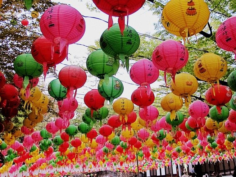 Lanterns at Gilsangsa Temple