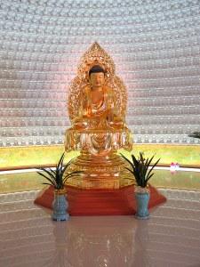 Seoul, Korea: Gilsangsa Temple, Golden Statue