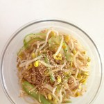 Korean Cooking: Sesame Bean Sprout Side Dish, Food
