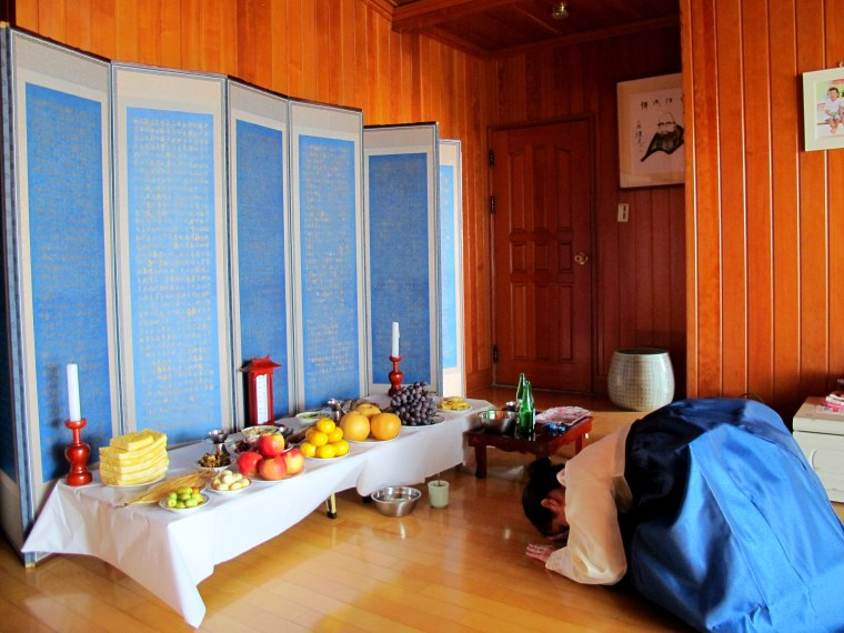 Chuseok Charye Altar