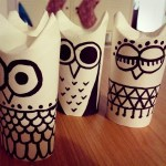 December On The Go, Owls, Toilet Paper Roll