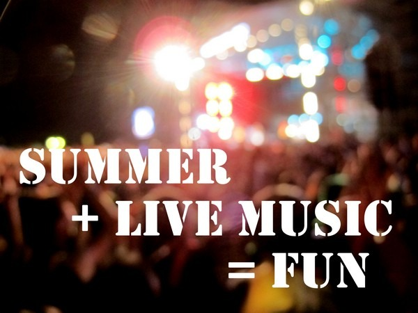 Summer Live Music Festival Fun