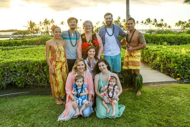 Marriott Resort Luau, Big Island, Hawaii, USA, Family Photo