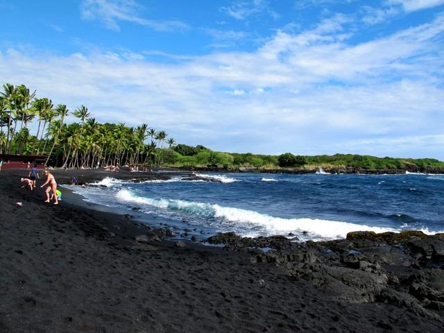 Punalu'u Black Sand Beach, The Big Island, Hawaii, US ...
