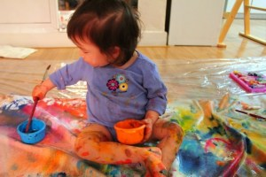 Art: Painting Experience with babies