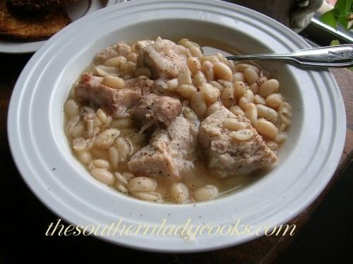 Pork Roast and white beans