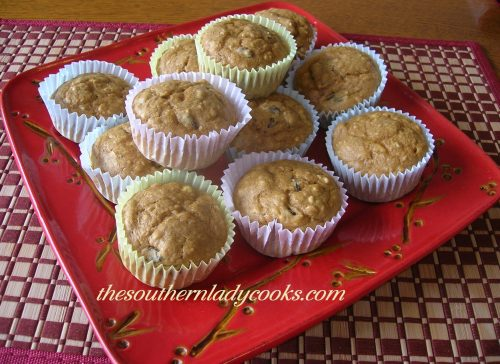 Spicy Pumpkin Oatmeal Muffins