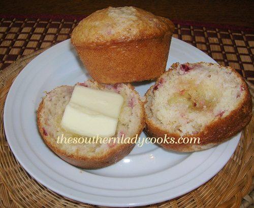 Strawberry Muffins - TSLC