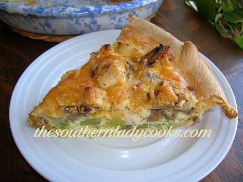 Chicken and Broccoli Quiche or Pie - TSLC