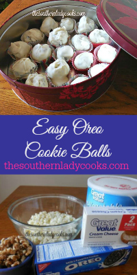 The Southern Lady Cooks Easy Oreo Balls