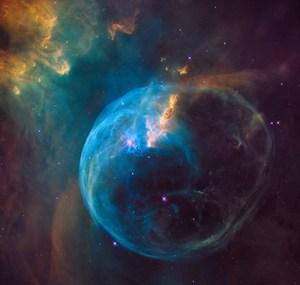 Hubble view of the Bubble Nebula.