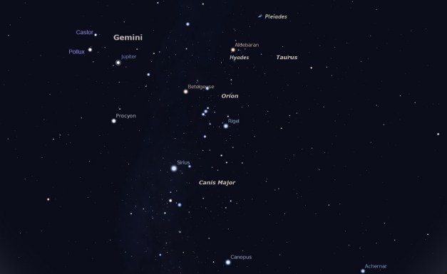 December 2013 skies around 10 p.m. or thereabouts! Click to get a larger version that will open in a separate window.