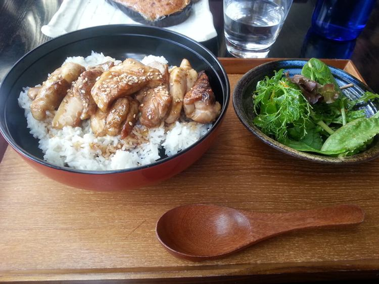 Teriyaki Chicken Donburi served with Rice and Salad ($15)