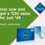 Sam's Club Membership Deal $220 Value only $45